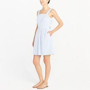 J. Crew Dresses - J. Crew seersucker apron dress
